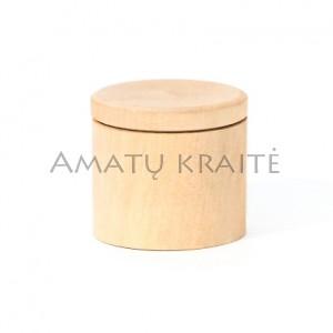 Medinė rankų darbo dėžutė, 4,8 cm x 5,0 cm