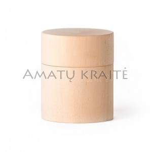 Medinė rankų darbo dėžutė, 6,0 cm x 6,0 cm
