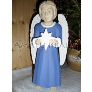 """Rankų darbo skulptūra """"Angelas, dovanojantis šviesą"""", 27 cm"""