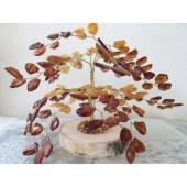 Gintarinis 144 lapelių medis, 14 cm x 18 cm