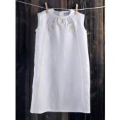 """Balto lino suknelė """"Žiedė"""""""