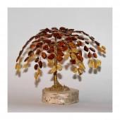 Gintarinis 160 lapelių medis, 12 cm x 16 cm