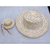 Iš šiaudų pintas skrybėliukas, 15 cm