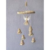 Iš šiaudų pintas sodelis, 30-35 cm