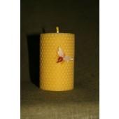 Bičių vaško žvakė iš korio 8.5 x 6 cm