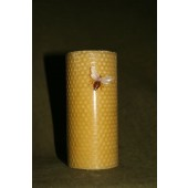 Bičių vaško žvakė iš korio 13 x 6 cm