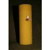 Bičių vaško žvakė iš korio 17 x 6 cm