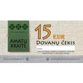 15 EUR Amatų kraitės dovanų čekis