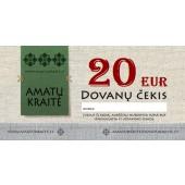 20 EUR Amatų kraitės dovanų čekis