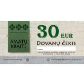 30 EUR Amatų kraitės dovanų čekis