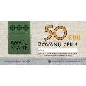 50 EUR Amatų kraitės dovanų čekis