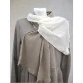 Baltos ir lino spalvos šalikėlis 180 cm x 40 cm