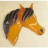 "Rankų darbo ""Arklio galva"",  15 cm x 19 cm"