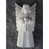"""Rankų darbo skulptūrėlė """"Muzikos angelas"""", 12 cm"""